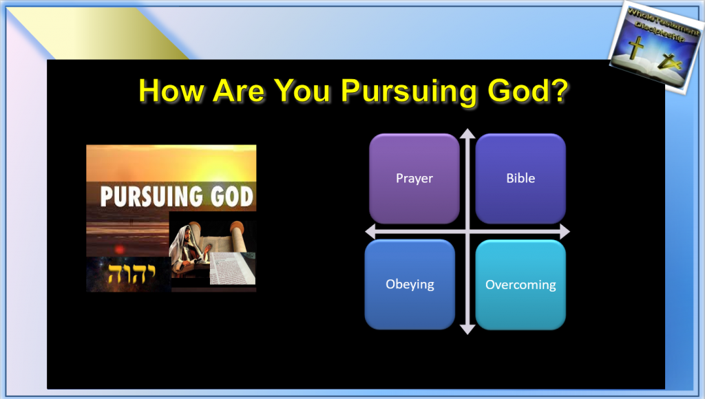 Picture How are you pursuing God Dynamics