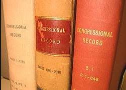 Bound volume books of the U.S. Congressional Records